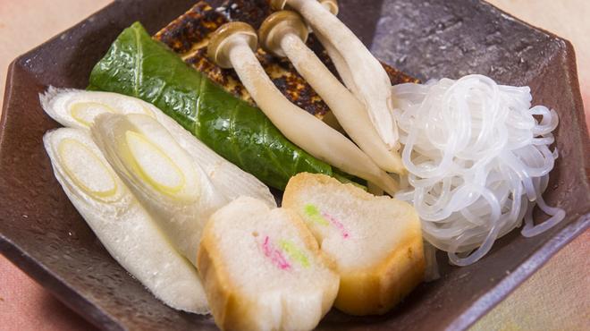桜なべ 中江 - 料理写真:鍋に欠かせない「ザク」