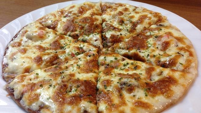 美味千成 - 料理写真:和風たこ焼きピザ・650円