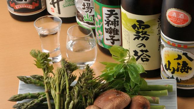 新潟魚沼ごっつぉ処 藤助 - 料理写真:魚沼の地野菜と地酒のコラボレーション