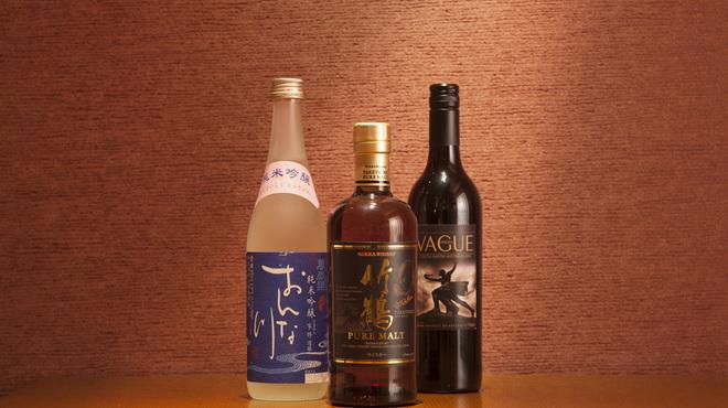 寿司 さ々木 - ドリンク写真:各種お酒の種類が豊富です