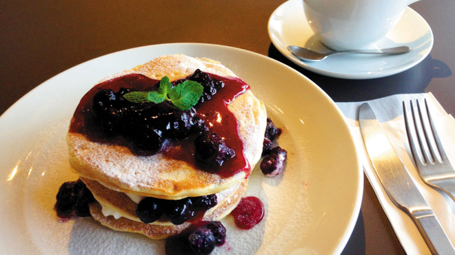 HOKI COFFEE TERRACE - 料理写真:パンケーキブルーベリー