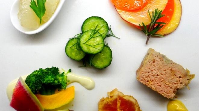 芦屋 とり千 - 料理写真:とある日のランチ前菜盛り合わせ
