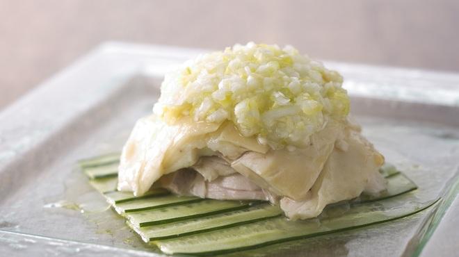 隆麺 - 料理写真:蒸し鶏の葱ソース