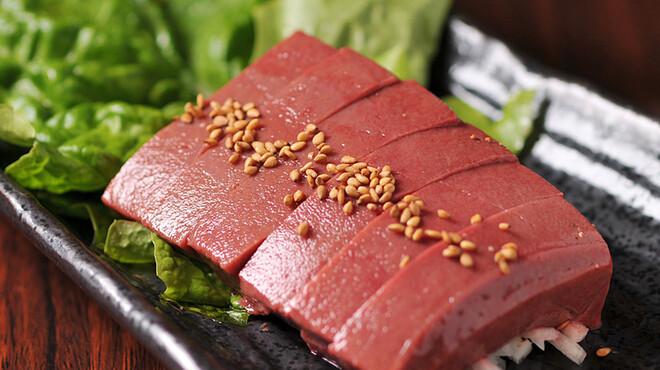 東京苑 - 料理写真:レバーのシャトーブリアン厚切り