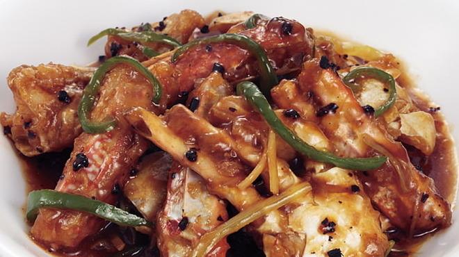 梅蘭酒家 - 料理写真: 渡り蟹の黒豆炒め