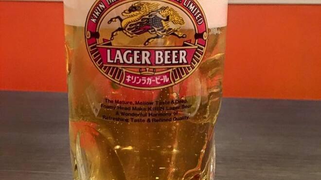 ヨコハマ牛カツ 黒船 - ドリンク写真:横浜発祥のキリンラガービール!! 牛カツと合います!!
