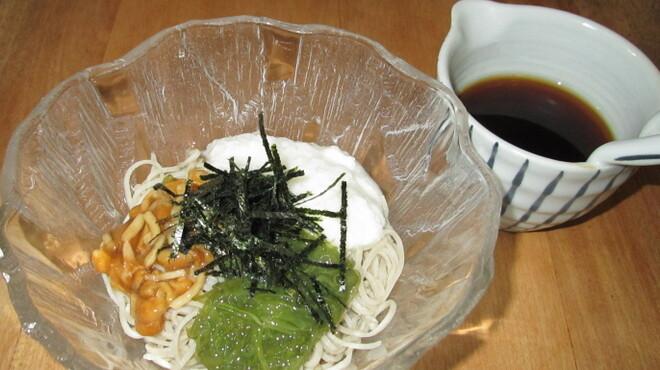 蕎仙 - 料理写真:免疫力アップに最強の十割そばとメカブ、山芋、なめこのコラボ。