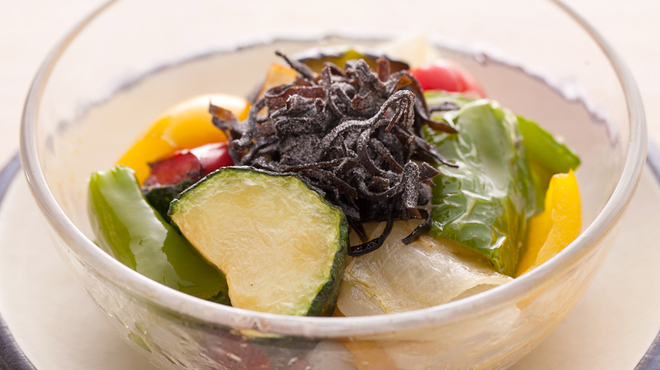 炭火串焼と旬鮮料理の店 炭火焼 炉暖 - 料理写真:京野菜の深い味わいを堪能できる『京野菜のナムル』