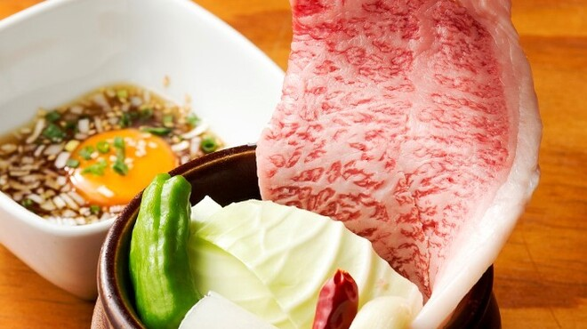 陽山道 - 料理写真:秘伝のタレに漬け込んだ「壺漬けカルビ