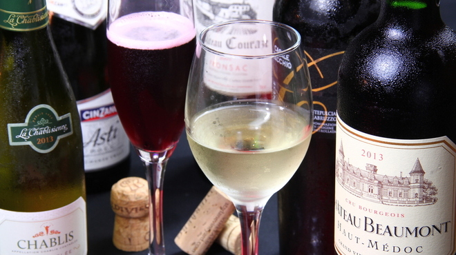 ホ・オポノポノ - ドリンク写真:ワインのスパークリングも多数ご用意。