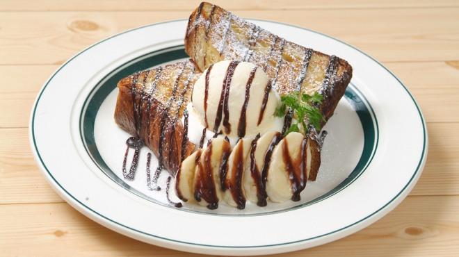 カフェ&パンケーキ gram  - 料理写真:チョコバナナのフレンチトースト