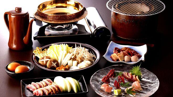 吹上庵 - 料理写真:コースはお刺身、焼き物、お鍋、〆でご用意します。