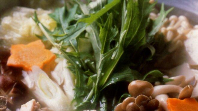 博多水たき元祖 水月 - 料理写真:元祖博多水たき鍋アップ