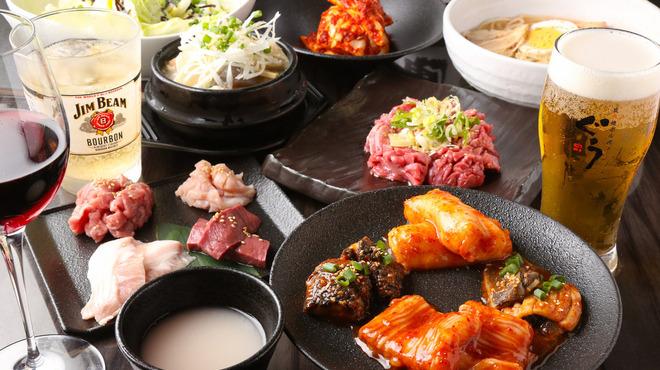 炭火焼ホルモン ぐう - 料理写真:2016年・夏の新プラン「渋谷コース」