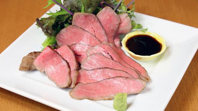 旬彩 花もみじ - 料理写真:黒毛和牛のローストビーフ