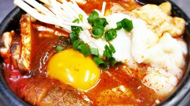 ハレルヤ - 料理写真:ランチ限定・トロホルモン入り純豆腐チゲ