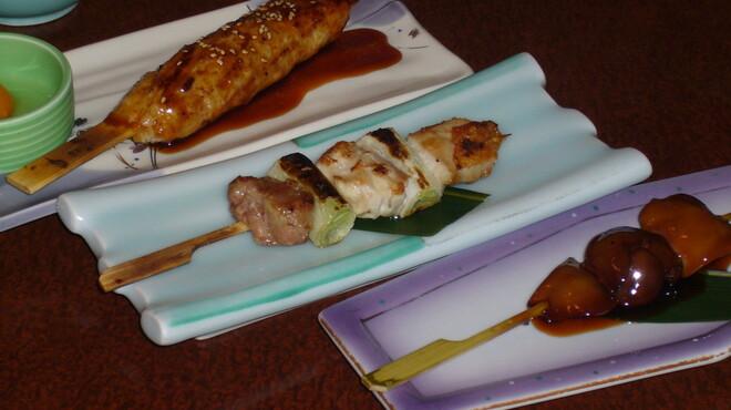 焼酎房 うお座 - 料理写真:焼鳥三種