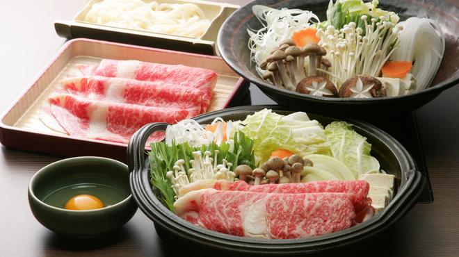 牛禅 - 料理写真:京野菜をつかったすき焼き