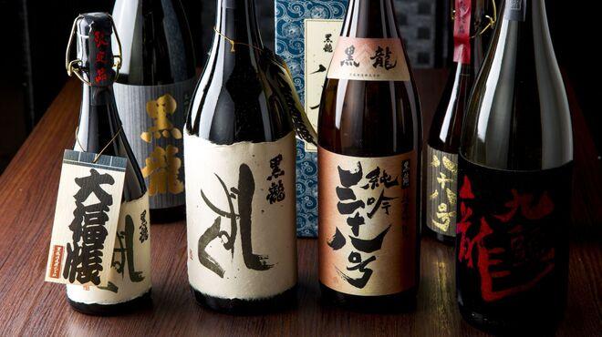 板長バル - ドリンク写真:福井の厳選地酒は黒龍&梵
