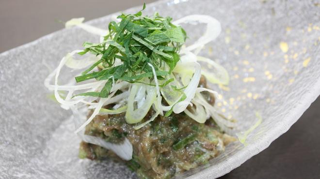とろさば料理専門店 SABAR - 料理写真:【お皿までなめろう】