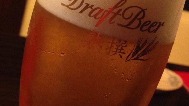 いもくりなんきん - ドリンク写真:ビールはアサヒのプレミアムビール熟撰♪