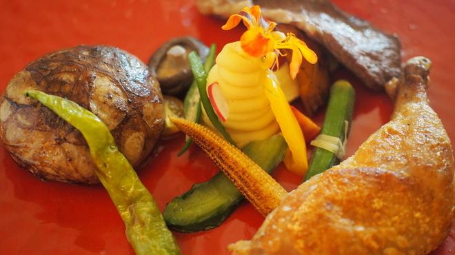 旬穀旬菜 - 料理写真:9月22日ディナー限定 3種の贅沢お肉盛りプレート
