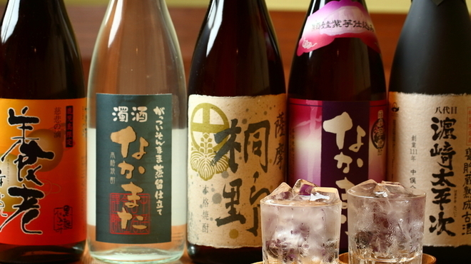 のどぐろ専門 銀座 中俣 - ドリンク写真:のどぐろに合う日本名酒に選ばれた焼酎/のどぐろ専門 銀座 中俣