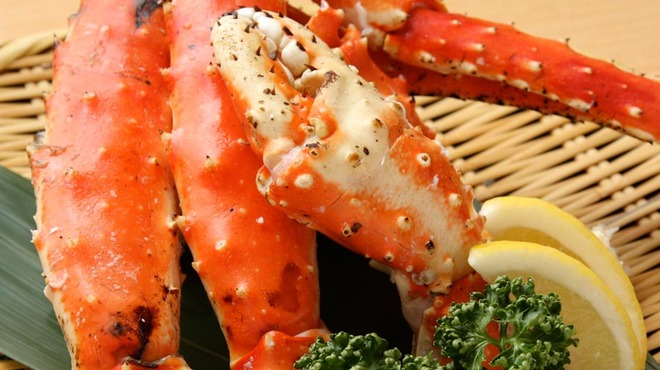 函館 海や - 料理写真:たらば蟹(焼・茹で)盛込2900円・1本980円