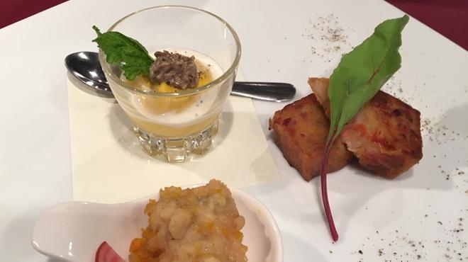 ステーキ ジン - 料理写真:三種の前菜盛り合わせ。