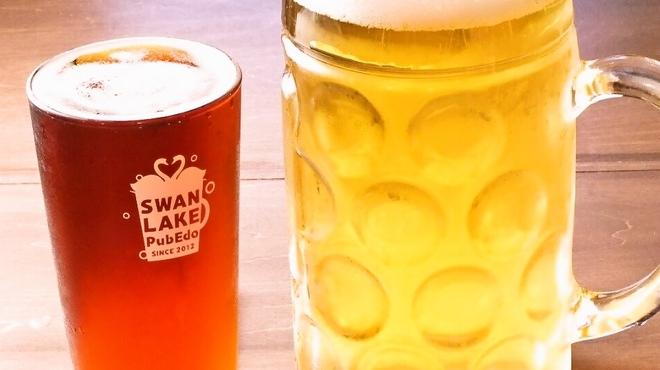 スワンレイクパブエド - ドリンク写真:大小様々グラスがあります!
