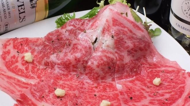 大衆ワイン酒場バルバル - 料理写真:名物A4ランクサーロインの炙りカルパッチョ