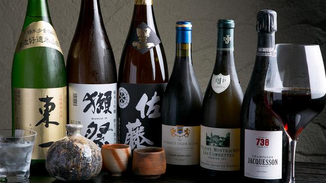 西中洲 鮨 山椒郎 - ドリンク写真:日本酒・ワイン・焼酎各種