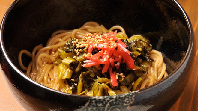 わさび 恵比寿集合!九州男とうまかもん。 - 料理写真:九州男のソウルフード!高菜ととんこつスープで焼きラーメンスタイルに。