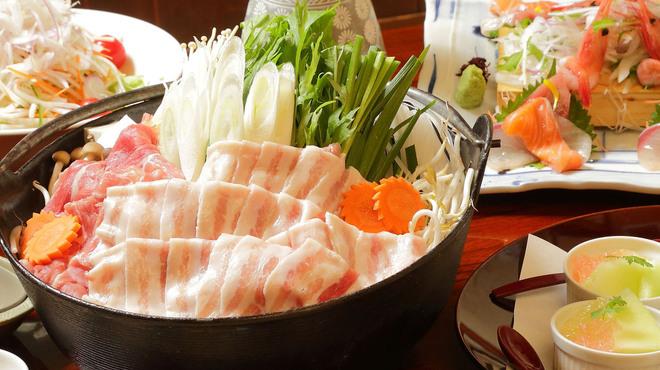 魚菜おもてなし 北河 - 料理写真:3500円 栗豚塩鍋コース(11月~1月