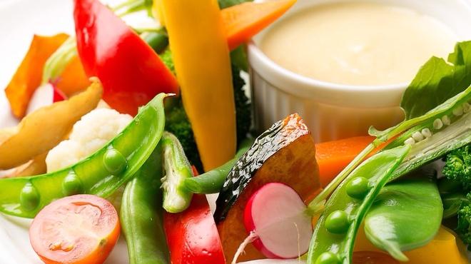 ヴィアブレラ - 料理写真:北海道産有機野菜のバーニャカウダ\1,320
