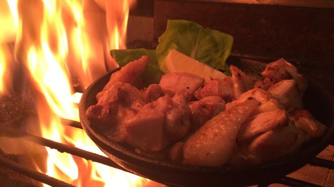 テバス - 料理写真:大和肉鶏もも炙り焼き