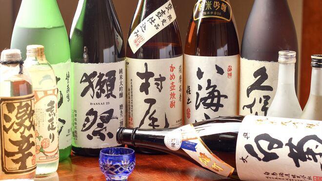 郷土料理 竹の子 - ドリンク写真:日本酒、焼酎共に多くの銘柄があります。お好みのお酒を見つけてください。