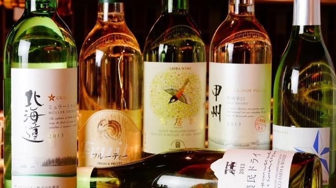 京ちゃばな - ドリンク写真:ワイン集合(白)