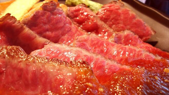 浜辺 - 料理写真:常陸牛焼肉御膳はジューシーな黒毛和牛が100g 3100円