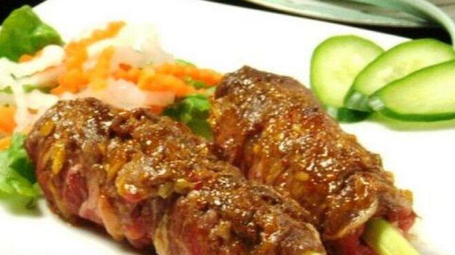 ベトナム料理専門店 サイゴン キムタン - 料理写真:牛肉のレモングラス巻きグリル