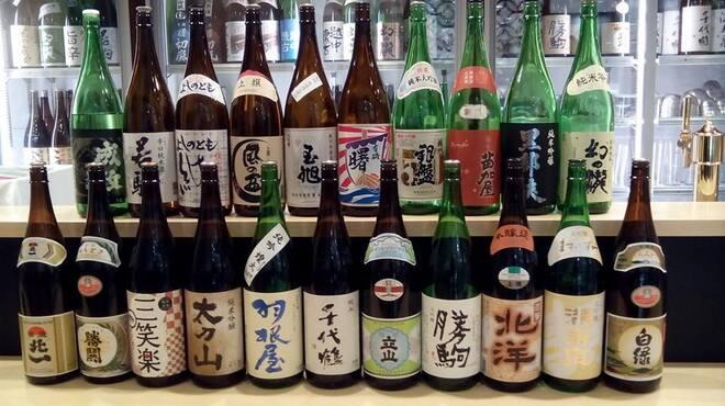 日本酒スローフード とやま方舟 - ドリンク写真:全20蔵100種類以上の富山の地酒をお楽しみいただけます!