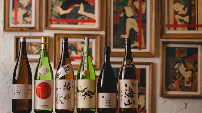 権八 - ドリンク写真:厳選した日本酒を用意しております。
