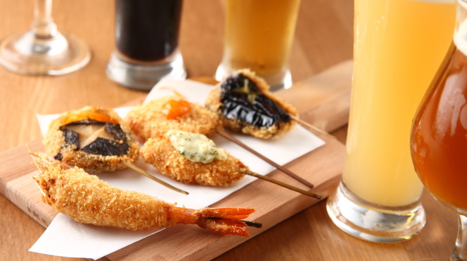 串揚げと樽生ビール 和が家 - メイン写真: