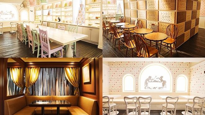 Q-pot CAFE. - 内観写真:1歩お屋敷の中に踏み込むと、不思議な空間が広がります。 〈Q-pot.〉のアクセサリーで人気のデザインをテーマに創られた9つのお部屋で、 おかしなひとときをお過ごしください。