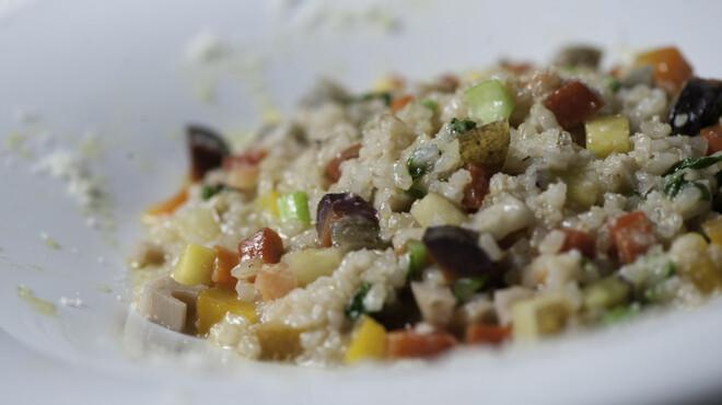 マザーエスタ - 料理写真:たっぷり季節野菜のパルミジャーノ玄米リゾット