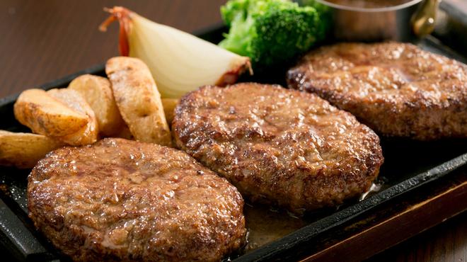 ごちそうお肉ビストロ くう海 - 料理写真:1ポンドもちぶたハンバーグ¥1600