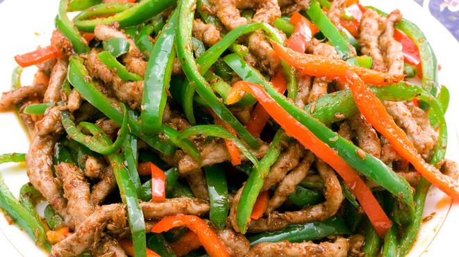 唐朝刀削麺 - 料理写真:牛肉のズーラン炒め
