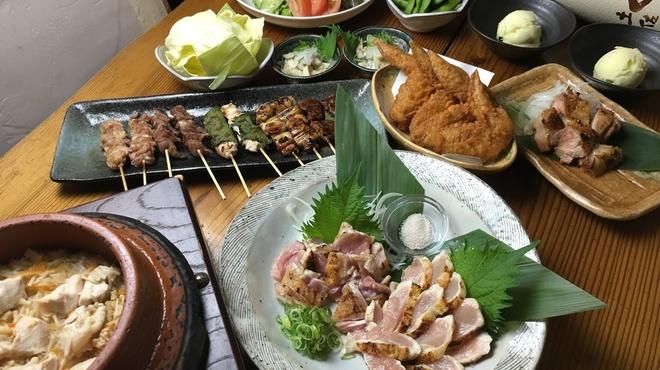炭火焼鶏 じろう - 料理写真:土佐はちきん地鶏と地鶏釜飯のコース
