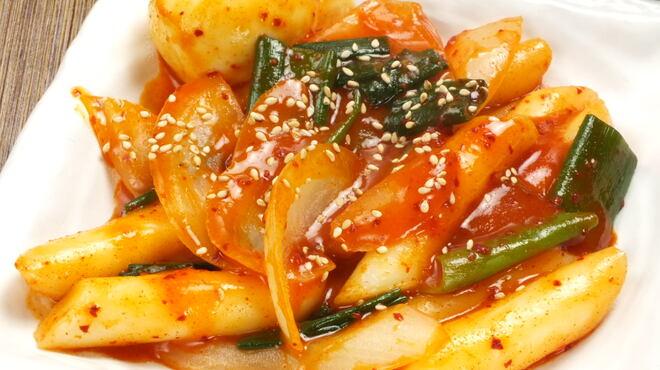 チーズタッカルビ&タッカンマリ専門店ここや - 料理写真:トッポギ          ¥950
