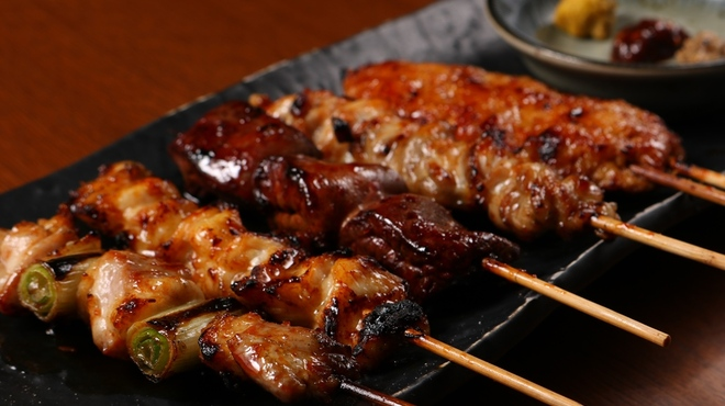 炭道楽 とり井 - 料理写真:串盛り5本